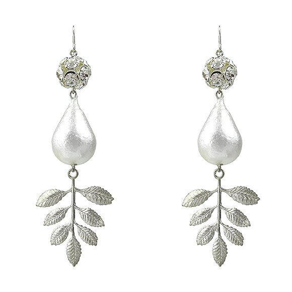 Moon and Lola - Lynbrook Leaf Earrings in silver