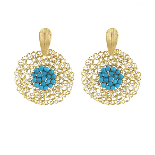 Moon and Lola - Matiti Turquoise Earrings