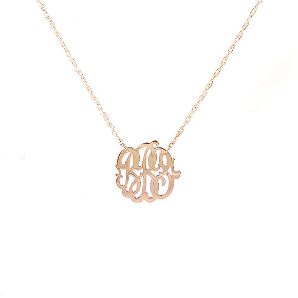 Cheshire Handcut Monogram Necklace