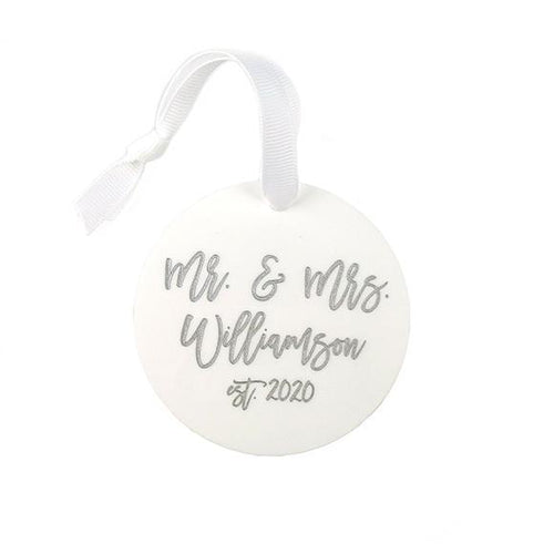Moon and Lola - Personalized Wedding Ornament