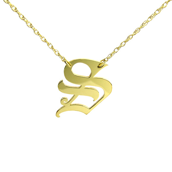 Moon And Lola Metal Single Letter Necklace