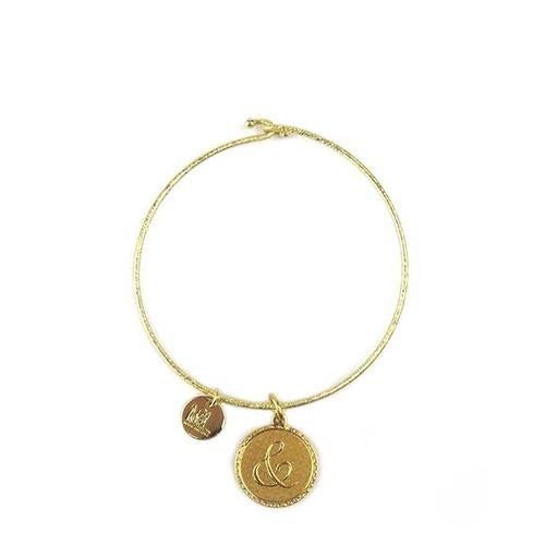 Moon and Lola - Metal Dalton Ampersand Charm on Nora Bangle