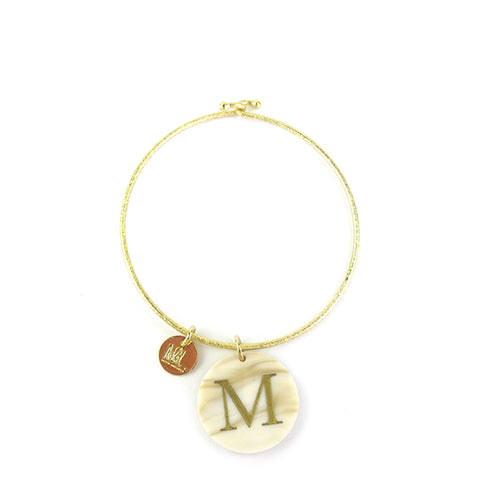 "Sample ""JCV"" Everly Monogram Bangle"