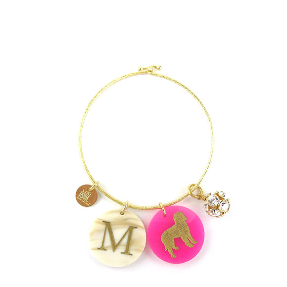 Moon and Lola - Eirene Bangle with Rhinestone Ball Charm