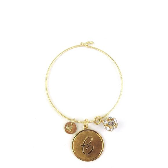 Moon and Lola - Ashley Bangle with Rhinestone Ball