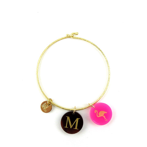 "Sample ""DWW"" Parker Monogram Bangle"
