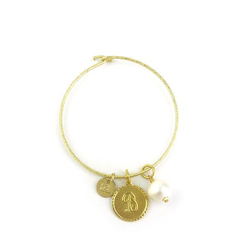 "Sample ""SSL"" Parker Monogram Bangle"