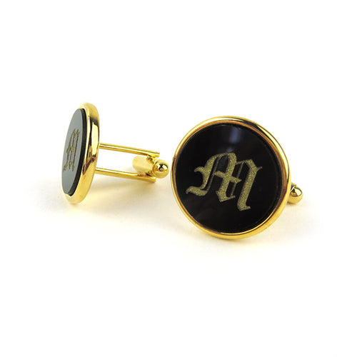 Moon and Lola - Single Letter Old English Acrylic Cuff Links
