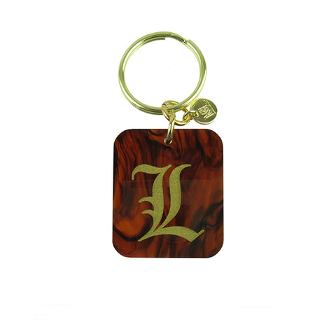 "Sample ""KMS"" Patterned Block Keychain"