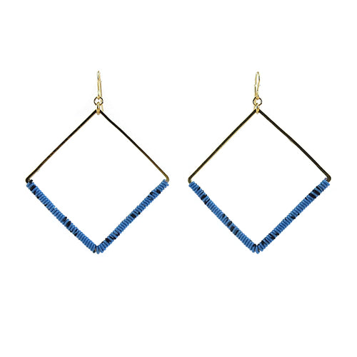 Moon and Lola - Ponio Earrings in Blue