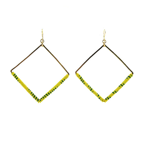 Moon and Lola - Ponio Earrings in Yellow