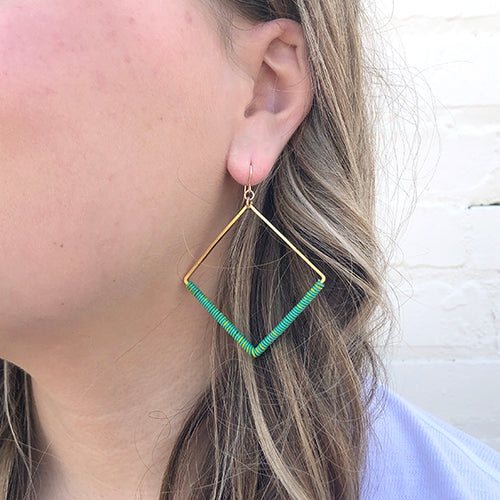 Moon and Lola - Ponio Earrings in Green