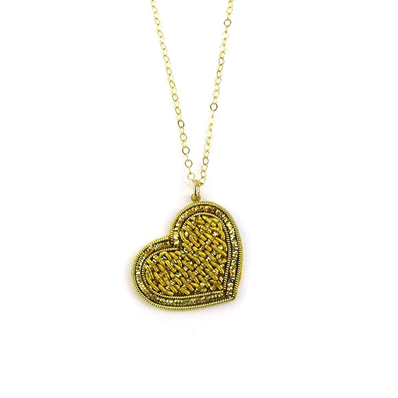 Moon and Lola - Sacre Coeur Necklace in Gold