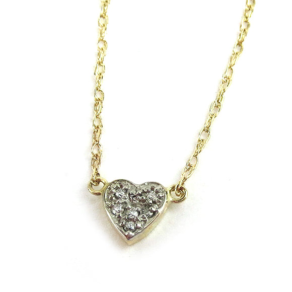 Moon and Lola -  Salzburg Tiny Heart Diamond Necklace