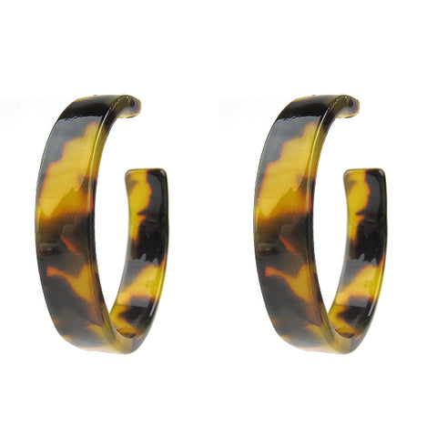 Tortoise Acrylic Bangle - Wide