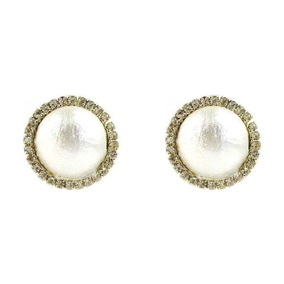 Moon and Lola - Vannes Cotton Pearl Earrings