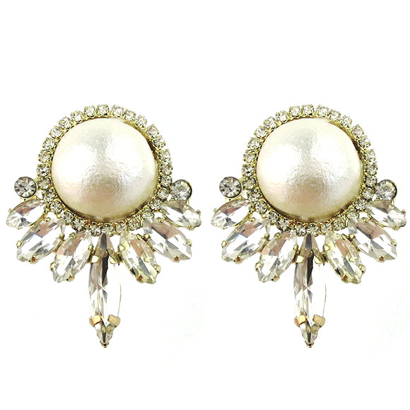 Moon and Lola - Vienna Cotton Pearl Earrings