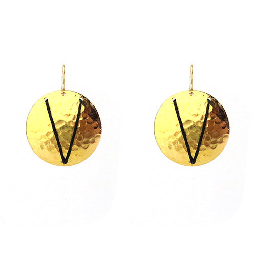 Moon and Lola - Vogan Earrings with Black Linen Thread