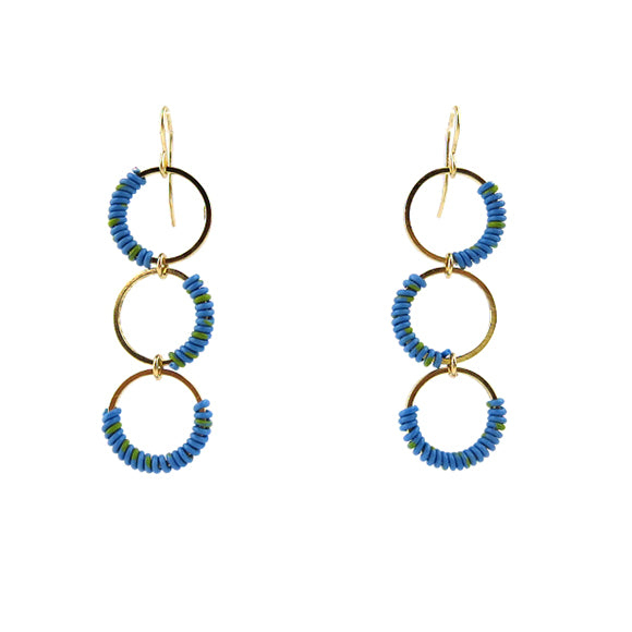 Moon and Lola - Zia Earrings in blue/yellow