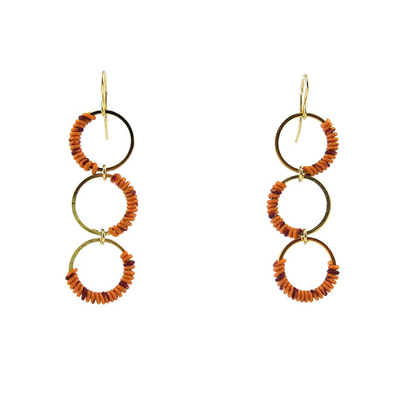Moon and Lola - Zia Earrings in Orange/Purple