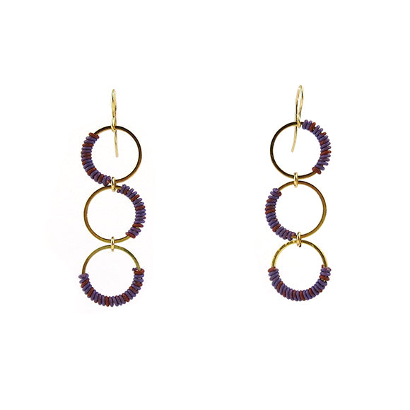 Moon and Lola - Zia Earrings in Purple/Orange