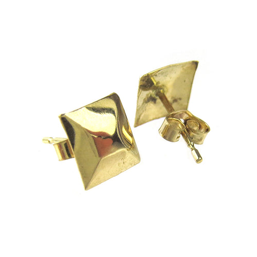 Moon and Lola - Fina 14K Gold Raised Square Studs