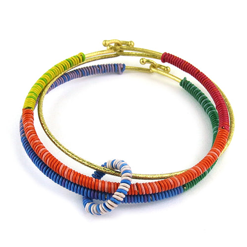 Moon and Lola - Wahala Bangle Stack in Fruit Stripe colors