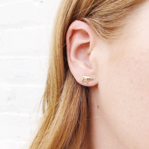 Moon and Lola - Fina 14K Gold Elephant Studs