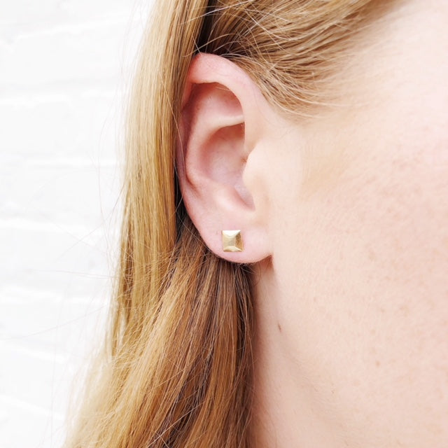 Moon and Lola - Fina 14K Gold Square Studs