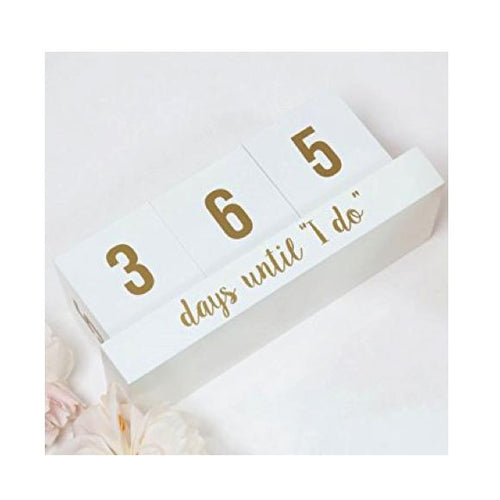 "Moon and Lola - 8 Oak Lane ""Days Until I Do"" Countdown Block Calendar"