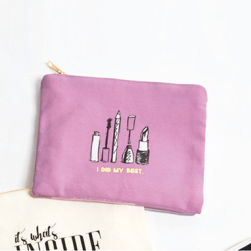 Moon and Lola - 8 Oak Lane Canvas Pouch