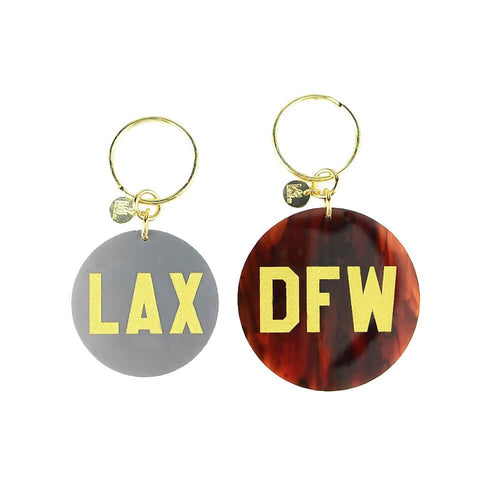 I found this at #moonandlola - Airport Code Keychain