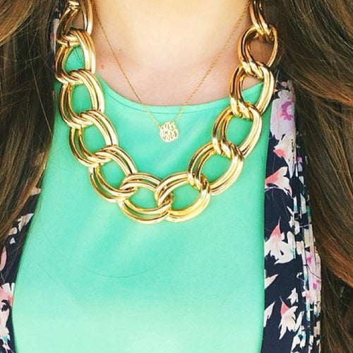I found this at #moonandlola! - Ajman Necklace on model