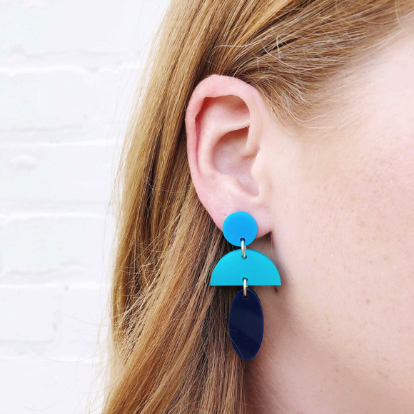 Moon and Lola Anguilla Earrings