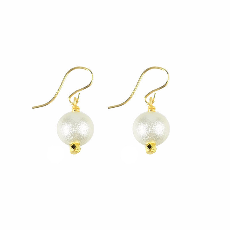 Moon and Lola Ariel Earrings - delicate and lightweight cotton pearl dangles