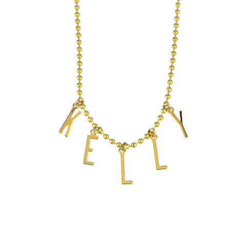 ML xx EM Cutout Metal Necklace - Woven
