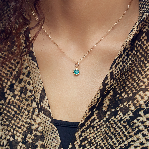 Moon and Lola - Birthstone Necklace