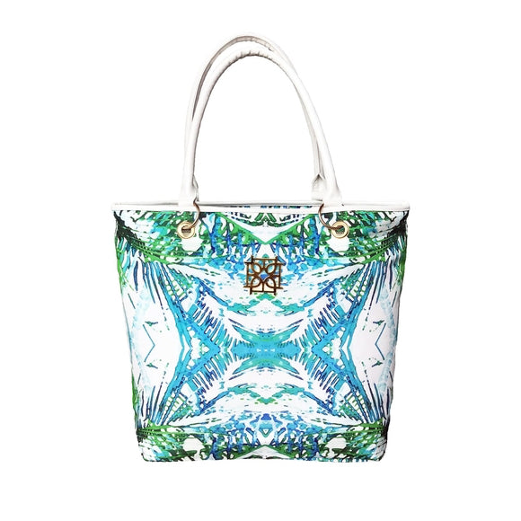 Moon and Lola - Blush Label Beach Tote in Jungle Print
