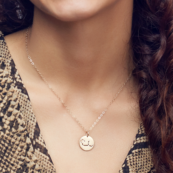 Moon and Lola - Brass Constellation Charm on Apex Chain