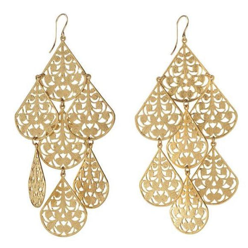 I found this at #moonandlola! - Cairo Earrings Gold