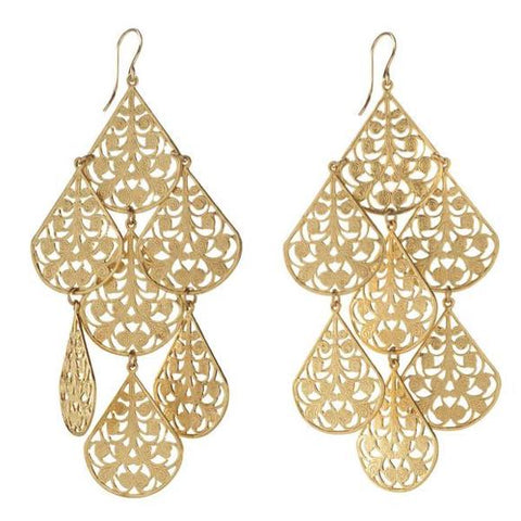 Europa Rhinestone Ball Graduated Earrings
