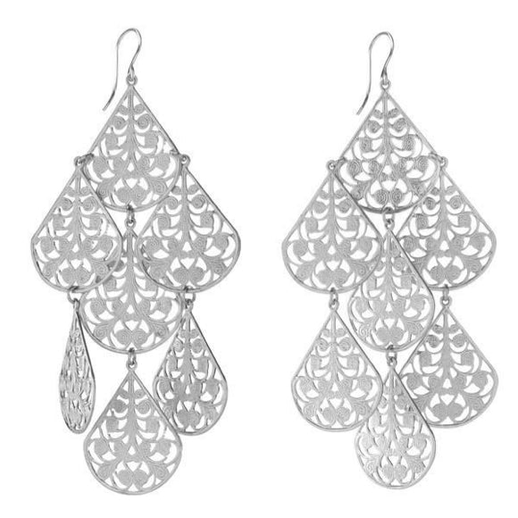 I found this at #moonandlola! - Cairo Earrings Silver