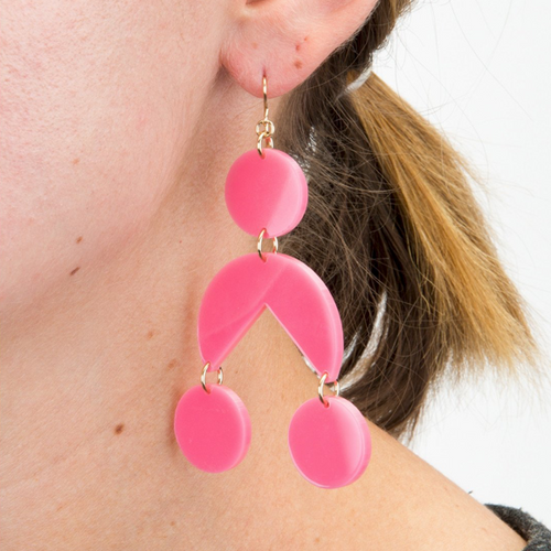 Calderini Colorful Trendy Statement Dangle Earrings - #moonanlola