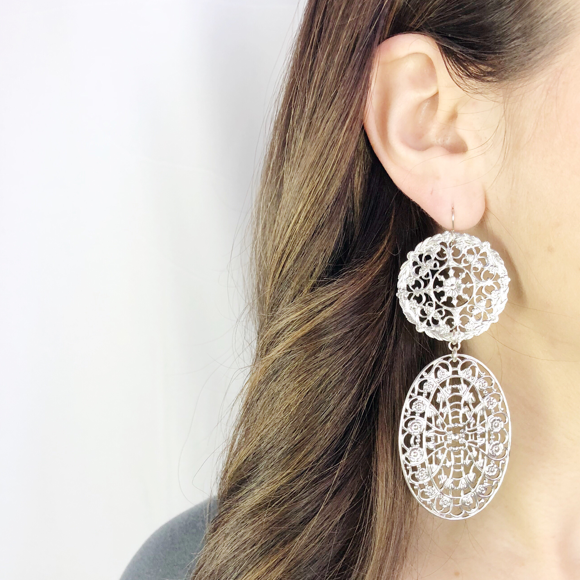 Moon and Lola - Compton Filigree Earrings