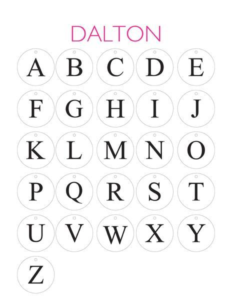 Moon and Lola Dalton Ornament Single Letter Font