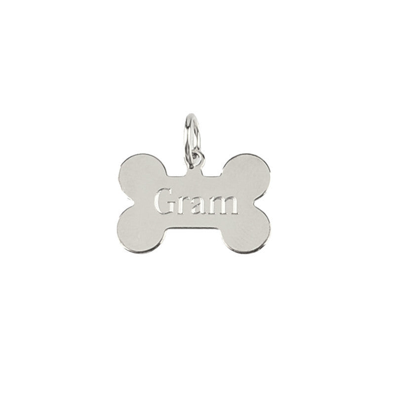 Moon and Lola - Metal Dog Bone Charm