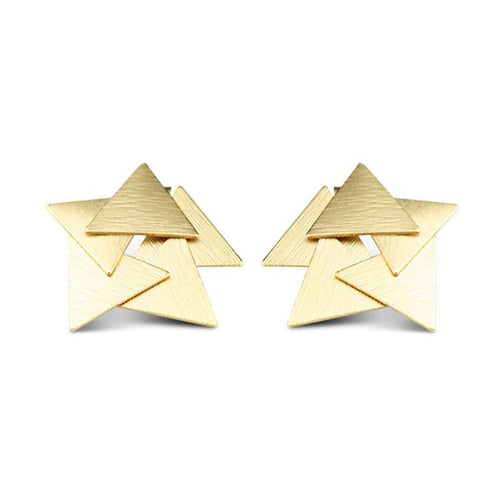 Moon and Lola Dundee Studs stylized triangle layers that appear star shaped