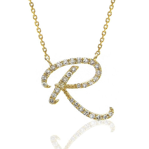 Moon and Lola - Essex Pave Diamonds Initial Necklace R