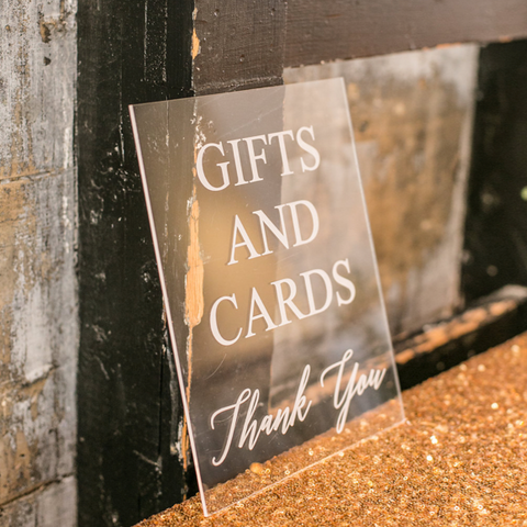 Sample - Gifts Tabletop Sign