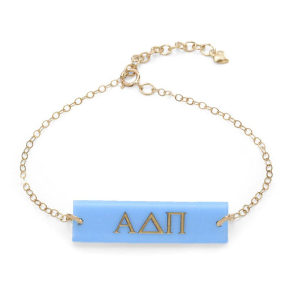 I found this at #moonandlola! - Greek Letter Bar Bracelet